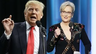 Repeat youtube video Trump attacks Meryl Streep after Golden Globes speech
