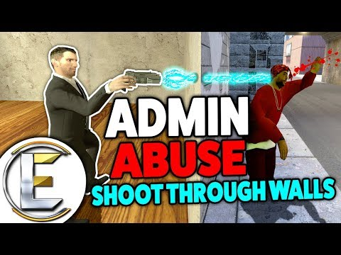 Admin Abuse Shoot Through WALLS - Gmod DarkRP Trolling (NEW Gun OP Hand CANNON PLAYERS GET MAD!)