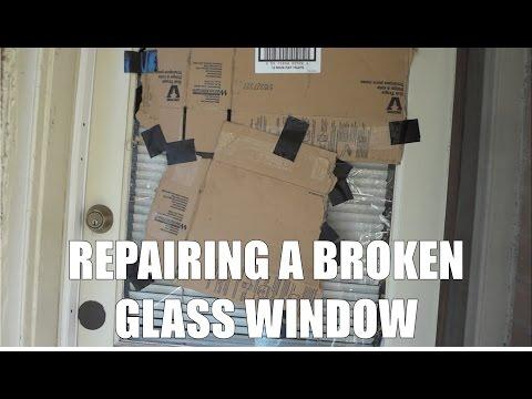 Repairing a broken glass window - remove and replace glass door window