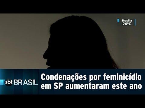 Número de homens condenados por feminicídio mais que dobrou em 2018 | SBT Brasil (21/07/18)