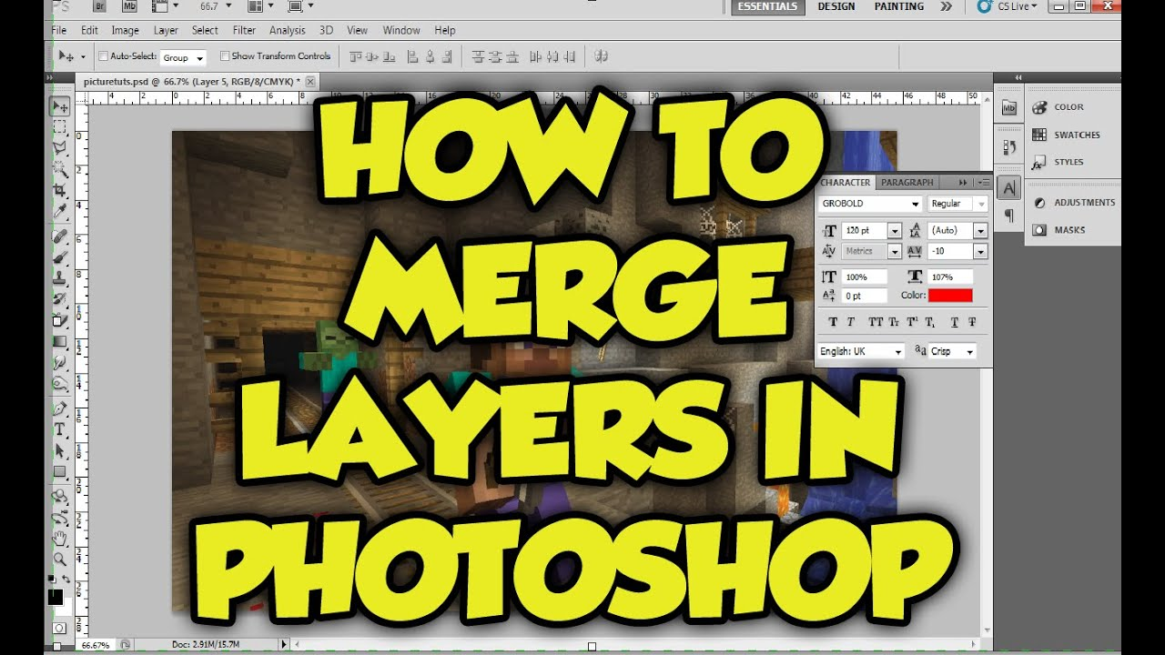 Photoshop tutorial how to merge layers in photoshop cs6 put photoshop tutorial how to merge layers in photoshop cs6 put layers together in photoshop in 1 min baditri Image collections