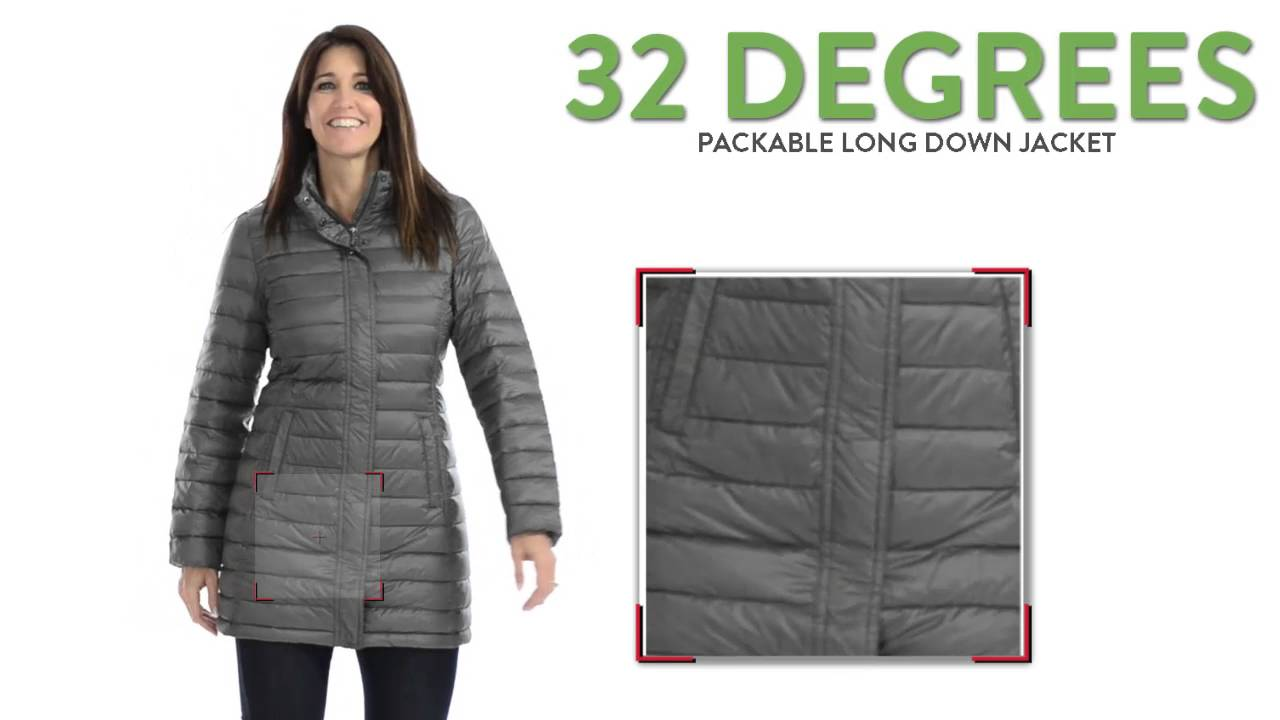 adef521e2e54 32 Degrees Packable Long Down Jacket - 650 Fill Power