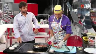 Рецепт - Фрикасе из курицы с томатами черри (ТВ Еда)