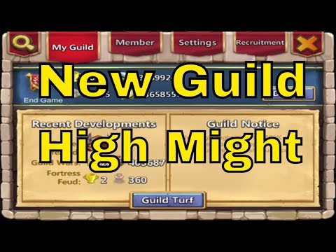 New Guild For High Might Players In Castle Clash