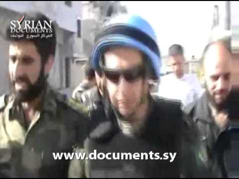 Homs countryside: the UN delegation's visit to Al-Rastan area on 20-5-2012
