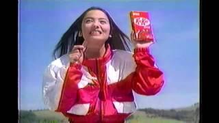 1999年ごろのキットカットのCMです。中山エミリさんが出演されてます。