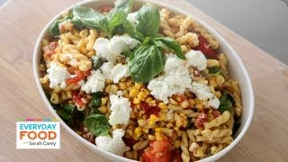 Grilled Tomato and Corn Pasta Salad