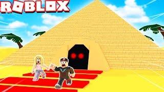 WIR ESCAPE AUS DER TERRIBLE PYRAMID IN ROBLOX OBBY!!! Vito vs Bella