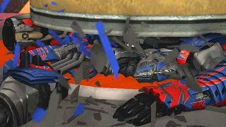 Transformers Crushed by Hydraulic Press Compilation (SFM Transformers Animation)