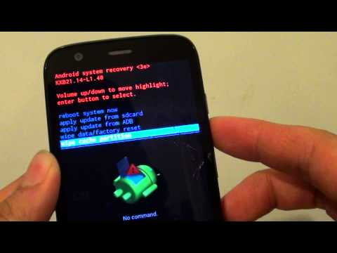 Motorola MOTO G: How to Wipe Cache Partition