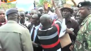 Kajiado county assembly chaos : Angry youth stage demos against the Clerk, disrupt sittings
