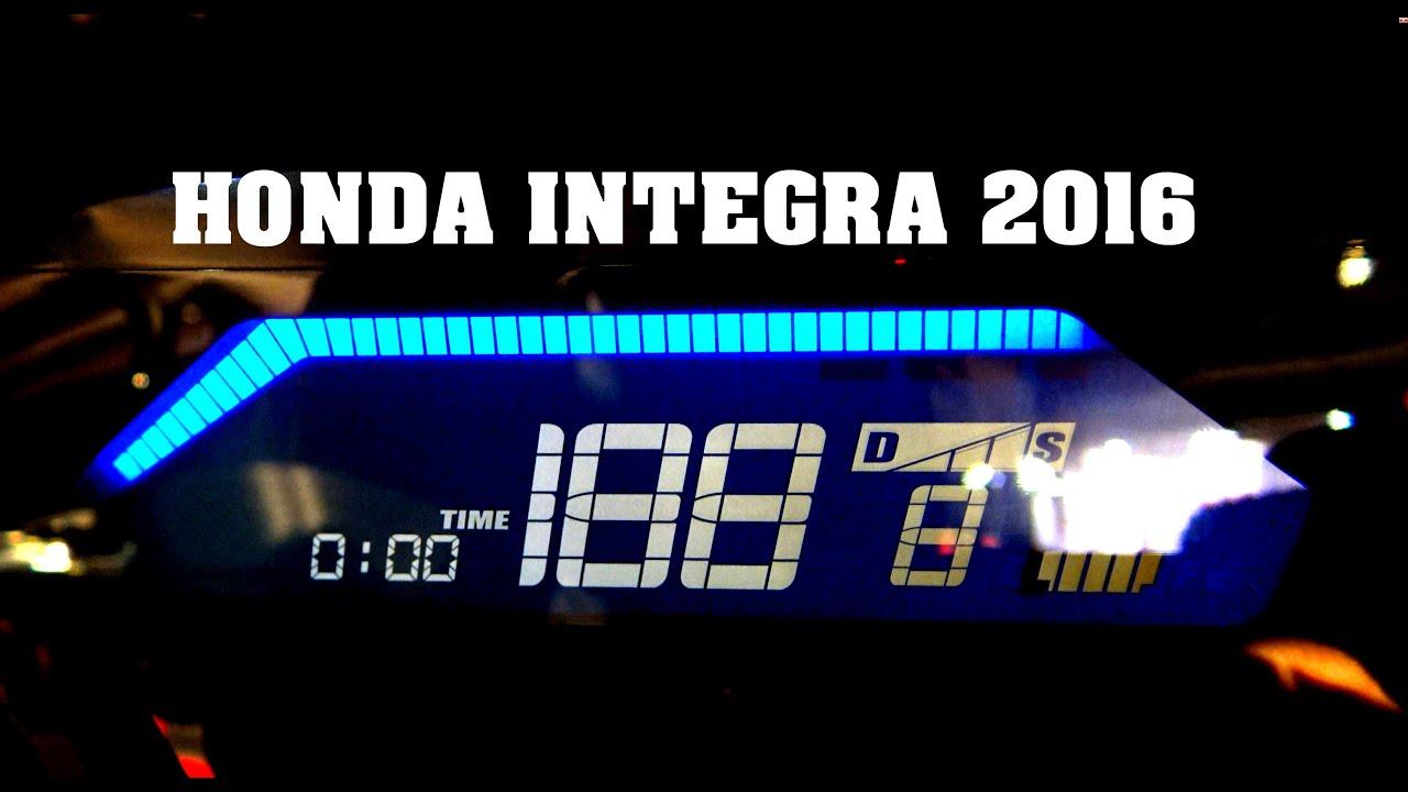 Eicma Honda Integra Led Check Control Test Video Best 4k Youtube