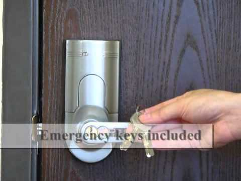iTouchless Bio-Matic Fingerprint Door Lock - YouTube