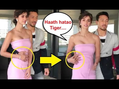 Disha Patani UNCOMFORTABLE Moment With Tiger Shroff At Baaghi 2 Promotion