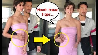 Disha Patani UNCOMFORTABLE Moment With Tiger Sh...