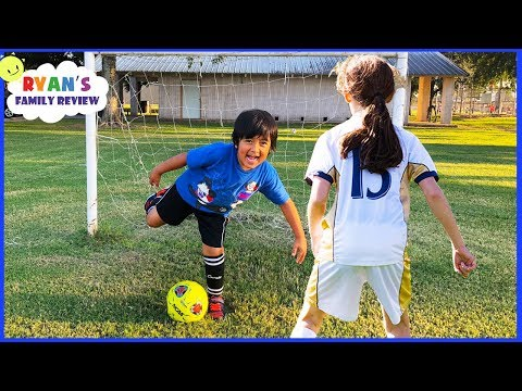 Ryan's First Soccer Practice vs the big kids!!!