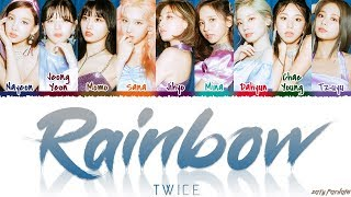 TWICE 트와이스 39 RAINBOW 39 Lyrics Color Coded_Han_Rom_Eng
