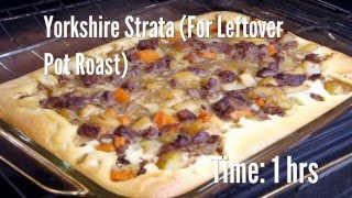 Yorkshire Strata (For Leftover Pot Roast) Recipe