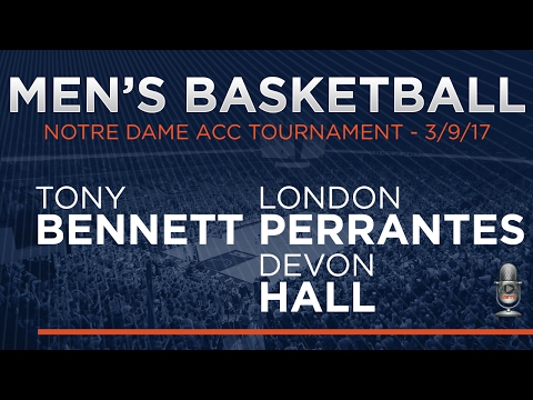 MEN'S BASKETBALL - Virginia vs. Notre Dame ACC Tournament Postgame