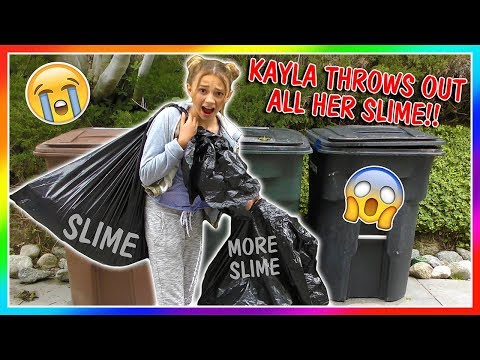 KAYLA IS THROWING AWAY ALL OF HER SLIME! | We Are The Davises