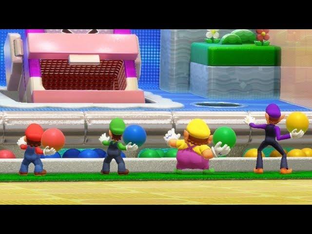 Super Mario Party - Square Off - Mario VS Luigi VS Wario VS Waluigi (Master Difficulty)