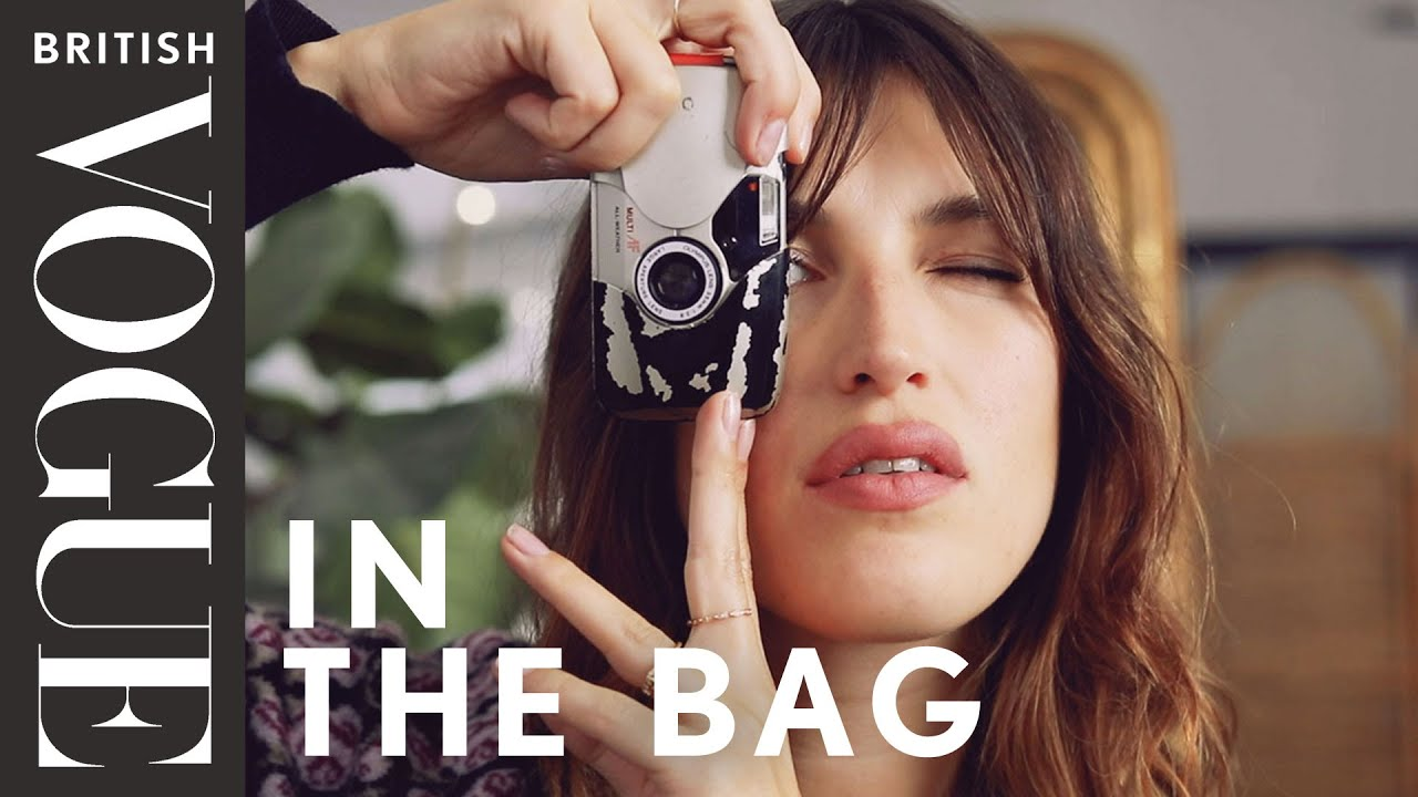 Jeanne Damas Does FrenchGirl Red LipstickAnd a 5Second Easy Bang Trim  Beauty Secrets  Vogue