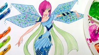 Drawing tutorial✿ how to draw winx club Tecna Bloomix✿