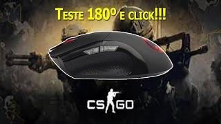 Teste Mouse Dazz Gamer Kirata 3200DPI 2 botões laterais ~ 180º e Click