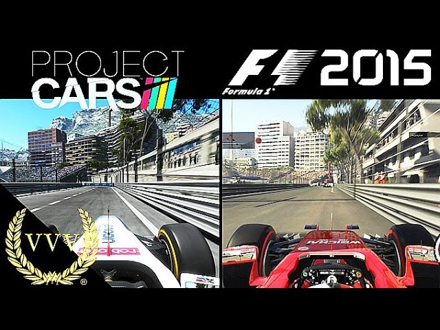 Project Cars Vs F1 2015 Monaco