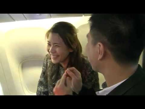 A wedding proposal on an Emirates flight   Emirates Airline