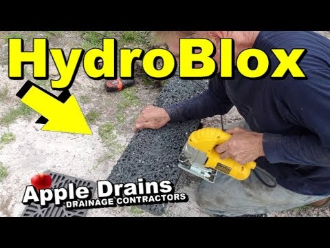 Hydroblox, What They Can Do for BackYard Drainage, french drain and more