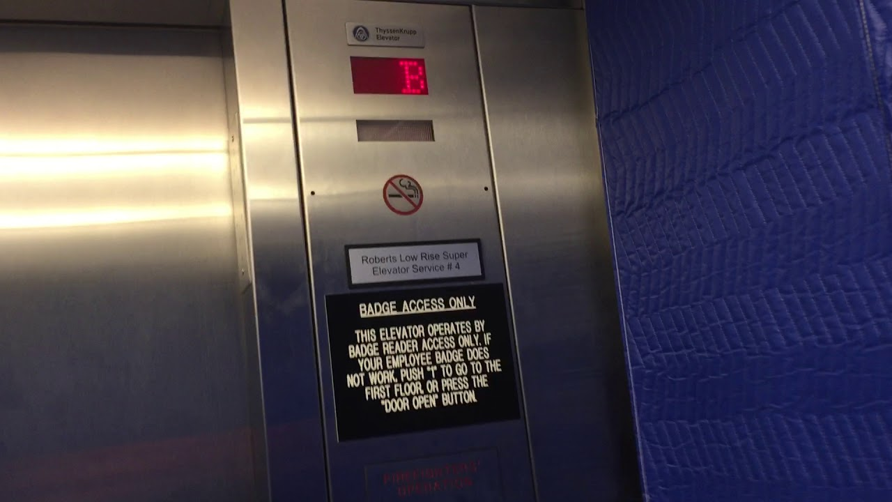 Huge Thyssenkrupp Traction ED Elevator At BUMC Roberts Hospital