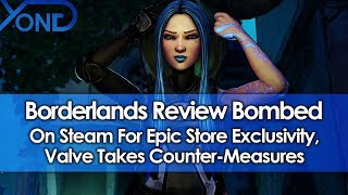 Borderlands Review Bombed on Steam for Epic Store Exclusivity, Valve Takes Counter-Measures