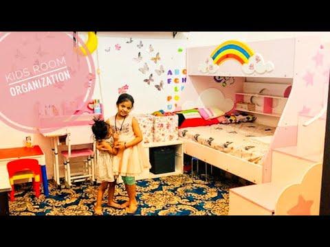 Kids Room Organization In Malayalam|Budget Friendly Girls Room Decoration|Toys Organization