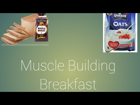 Muscle building breakfast #fitnesssecrets