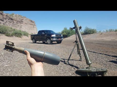 Bracketing Mortars On My Truck - slow motion