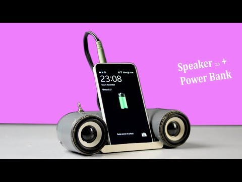 How to make Mini Portable Speaker 3 in 1 Using PVC pipe (Play music + Power bank + Phone stand)