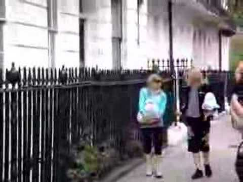 Madonna leaving home in London
