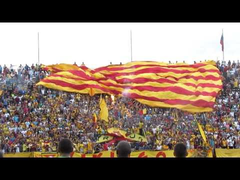 Telón aurirrojo   Aragua FC - Caracas FC   @SoloFutbol_VE  SoloFutbolVe.com.ve