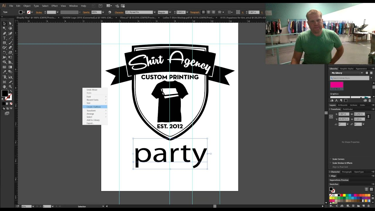 Design t shirt adobe illustrator tutorial - How To Make Print Ready Artwork In Adobe Illustrator For Silk Screen Printing On T Shirts