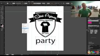 How to make print ready artwork in Adobe Illustrator for Silk Screen Printing on T-Shirts