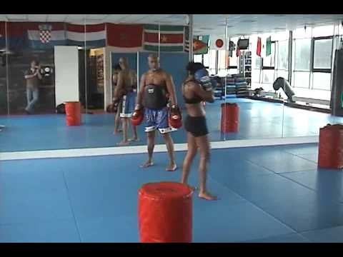 Another pads training Ilonka Elmont and Lucien Carbin part 1