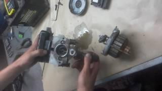 Результат некачественного ремонта насоса гидроподвески Citroen