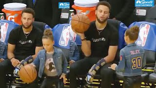 Stephen Curry's Daughter Riley Is Ready To Take Over For Him While He Recovers From Injury!