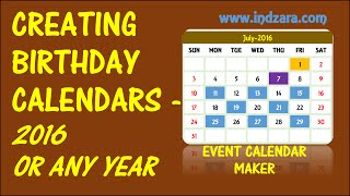 Event Calendar Maker Excel Template - Creating Annual Events
