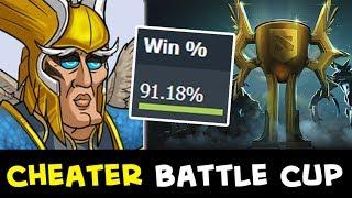 Cheaters in Battle Cup — beware of scripts/hacks in Dota
