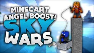 MLG Minecart Angel Boost! - Minecraft Sky Wars! | DieBuddiesZocken
