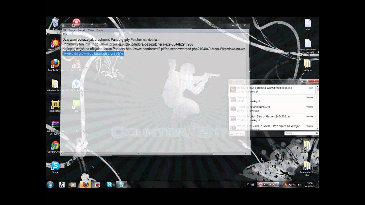 Jak uruchomić PandoraMt2, gdy patch nie działa ? - YouTube