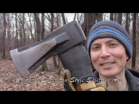 The Condor Tool & Knife GS Splitting Axe - My Thoughts and German Style Wood Splitting