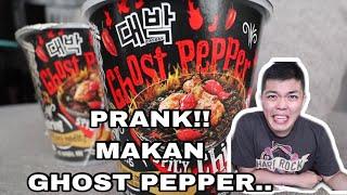 PRANK MAKAN MIE GHOST PEPPER SAMPE NANGIS & MUNTAH!!
